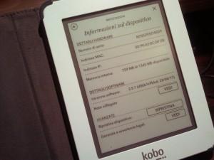 La schermata di informazioni sul dispositivo