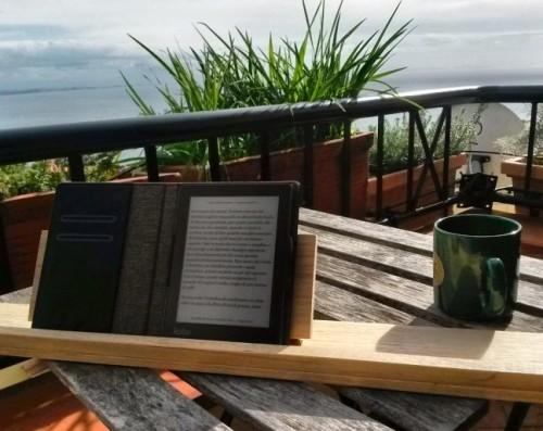 Kobo Aura sul balcone